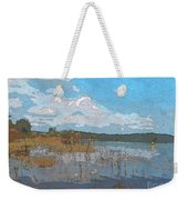 Kayaking At Lake Juliette Weekender Tote Bag