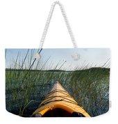 Kayaking Through Reeds Bwca Weekender Tote Bag