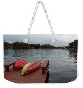 Kayaks By The Lake Nj Weekender Tote Bag