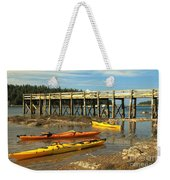 Kayaks By The Pier Weekender Tote Bag