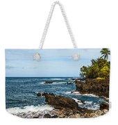 Keanae Coast - The Rugged Volcanic Coast Of The Keanae Peninsula In Maui. Weekender Tote Bag