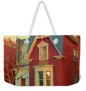 Keep A Light In The Window Til I Come Home Again Winter House Pointe St Charles City Scene Cspandau  Weekender Tote Bag