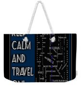 Keep Calm And Travel On Nova Scotia Crosswords Weekender Tote Bag