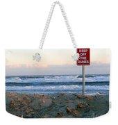 Keep Off The Dunes Weekender Tote Bag
