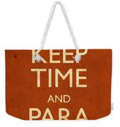 Keep Time And Paradiddle Poster Weekender Tote Bag