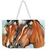 Horse Painting Keeping Watch Weekender Tote Bag