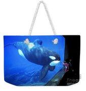 Keiko The Killer Whale Oregon Coast Aquarium Pat Hathaway Photo  1996 Weekender Tote Bag