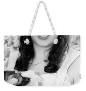 Keira In Black And White Weekender Tote Bag