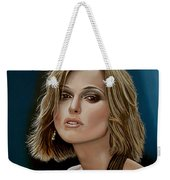 Keira Knightley Weekender Tote Bag by Paul Meijering