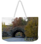 Kelly Drive Rock Tunnel In Autumn Weekender Tote Bag