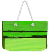 Kensington Gardens Series Green On Green Oil On Canvas Weekender Tote Bag