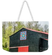 Kentucky Barn Quilt - 2 Weekender Tote Bag