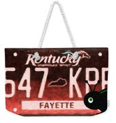 Kentucky License Plate Weekender Tote Bag