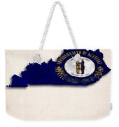 Kentucky Map Art With Flag Design Weekender Tote Bag