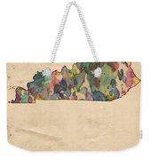 Kentucky Map Vintage Watercolor Weekender Tote Bag