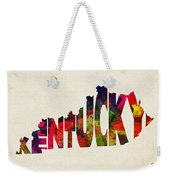 Kentucky Typographic Watercolor Map Weekender Tote Bag