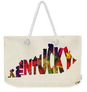 Kentucky Typographic Watercolor Map Weekender Tote Bag