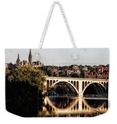 Key Bridge And Georgetown University Washington Dc Weekender Tote Bag