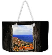 Key Hole View Of Dubrovnik Weekender Tote Bag