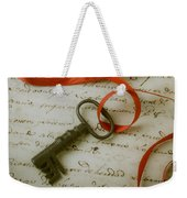 Key On Red Ribbon Weekender Tote Bag