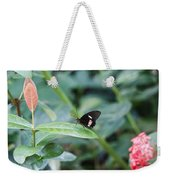 Key West Butterfly Conservatory - In Black White And Orange Weekender Tote Bag