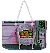 Key West Coconuts - Colorful House Porch Weekender Tote Bag