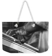 Keyboard In Black And White Weekender Tote Bag