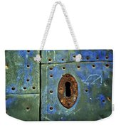 Keyhole On A Blue And Green Door Weekender Tote Bag
