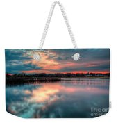 Keyport Nj Sunset Reflections Weekender Tote Bag