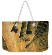 Keys And Quill On Old Papers Weekender Tote Bag