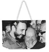 Khrushchev And Castro Weekender Tote Bag