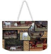 Horses Kickin It  Weekender Tote Bag