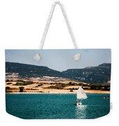 Kid Sailing On A Lake Weekender Tote Bag