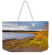 Kielder Dam In Late Evening Weekender Tote Bag