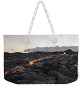 Kilauea Volcano 60 Foot Lava Flow - The Big Island Hawaii Weekender Tote Bag