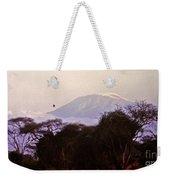 Kilimanjaro In The Morning Weekender Tote Bag