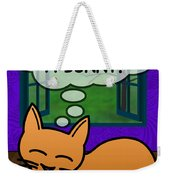 Cat Thoughts Weekender Tote Bag