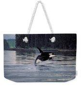 Killer Whale Orcinus Orca Breaching Weekender Tote Bag