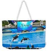Killer Whales Perform In Shamu Stadium At Seaworld. Weekender Tote Bag