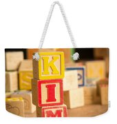 Kim - Alphabet Blocks Weekender Tote Bag