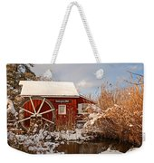 Kimberton Mill After Snow Weekender Tote Bag