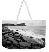 Kimmeridge Bay In Black And White Weekender Tote Bag