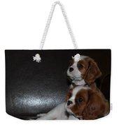 King Charles Puppies Weekender Tote Bag