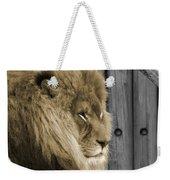 King In Sepia Weekender Tote Bag