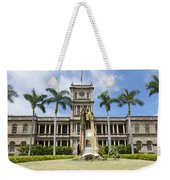 King Kamehameha In Leis Weekender Tote Bag
