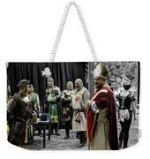 King Macbeth Of Scotland With The Bishop Weekender Tote Bag