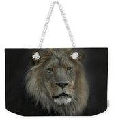 King Of Beasts Portrait Weekender Tote Bag