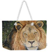 King Of The African Savannah Weekender Tote Bag