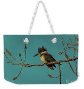 Kingfisher On Limb Weekender Tote Bag