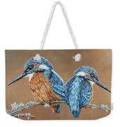 Kingfishers Weekender Tote Bag